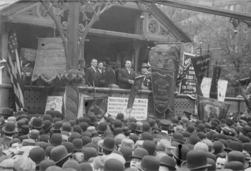 James Connolly at IWW Rally, New York , May Day 1908