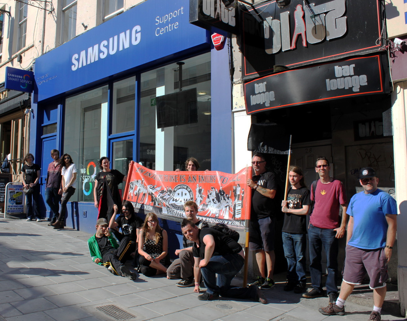 Out side Samsung shop
