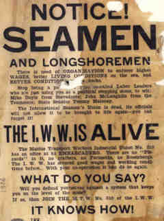 """Notice! Seamen and longshoremen"" poster"