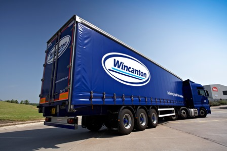 Rear view of Wincanton Truck